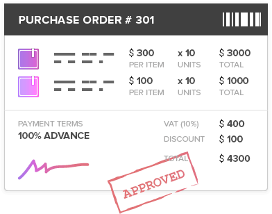 Purchasing & Purchase orders