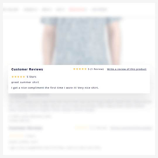 Product Review with Rich Snippets